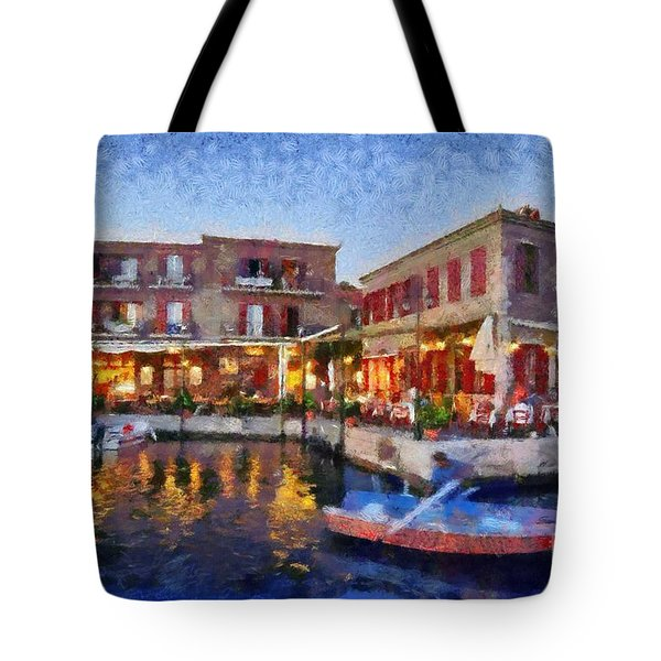 Molyvos Town In Lesvos Island Tote Bag by George Atsametakis