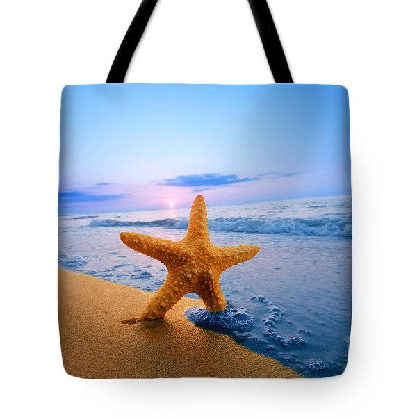 Starfish Tote Bag by Michal Bednarek