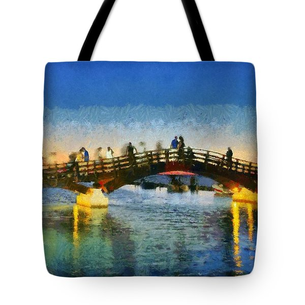 Sunset In Lefkada Town Tote Bag