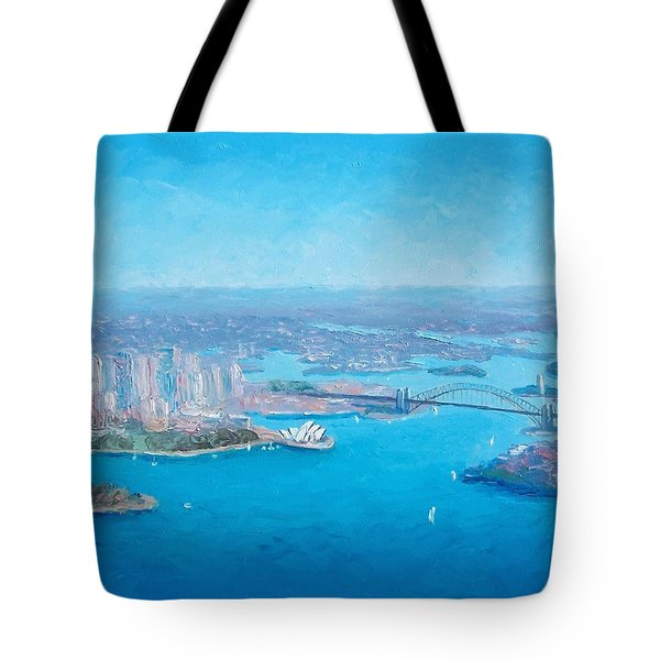 Sydney Harbour And The Opera House Aerial View  Tote Bag