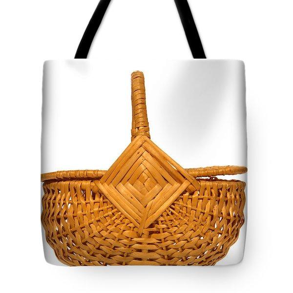 Wicker Basket Number Four Tote Bag