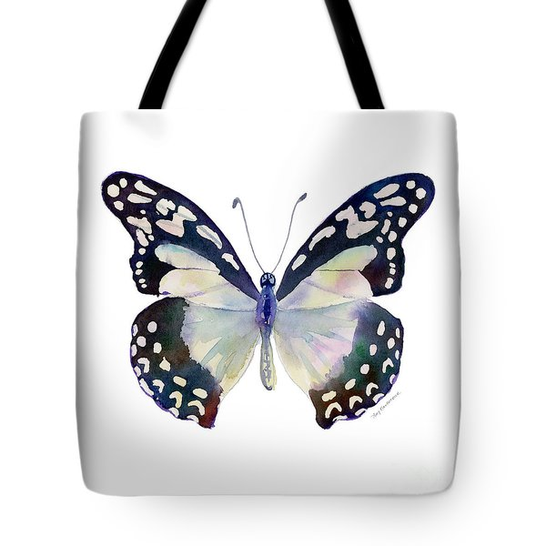 90 Angola White Lady Butterfly Tote Bag