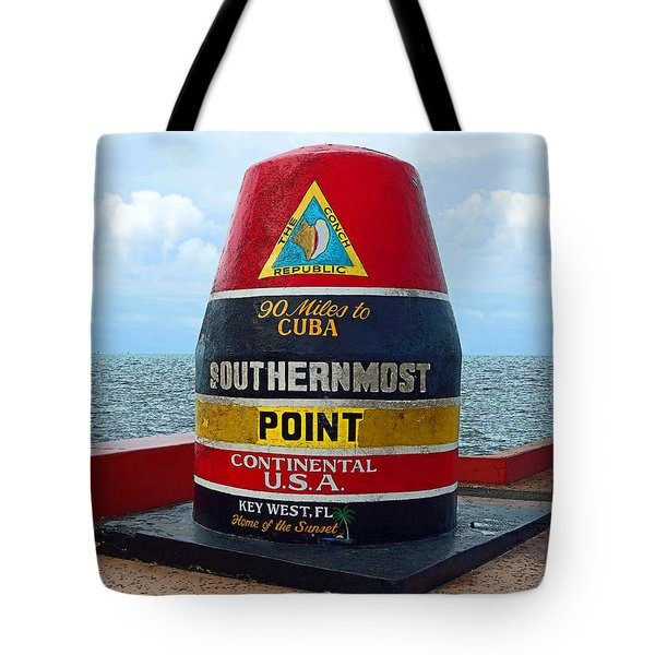 Southernmost Point Key West - 90 Miles To Cuba Tote Bag