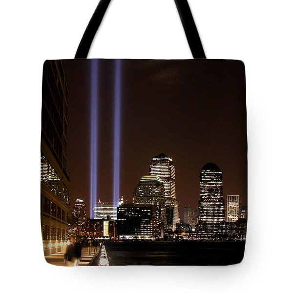 Tote Bag featuring the photograph 911 Anniversary by Gary Slawsky
