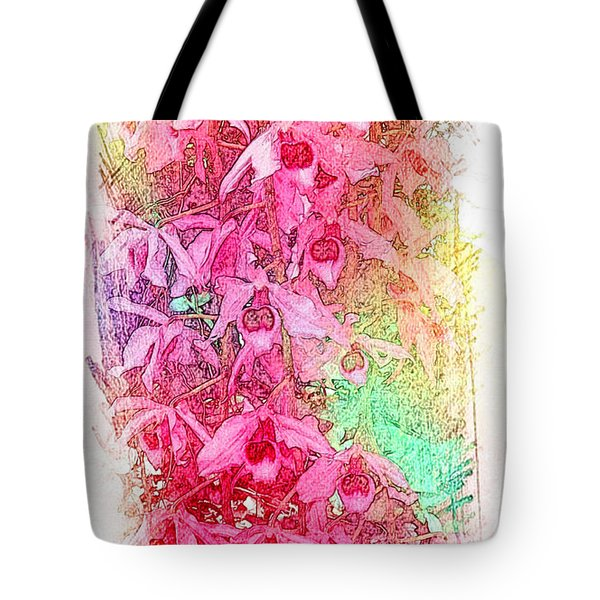 Pink Pretty Orchids Tote Bag