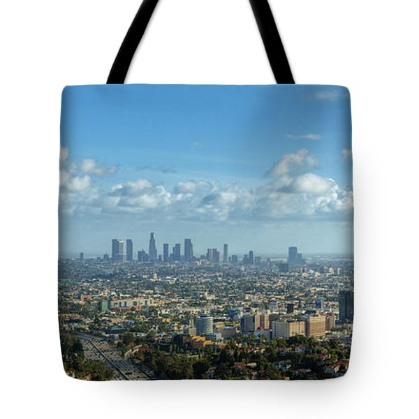 A 10 Day In Los Angeles Tote Bag by David Zanzinger
