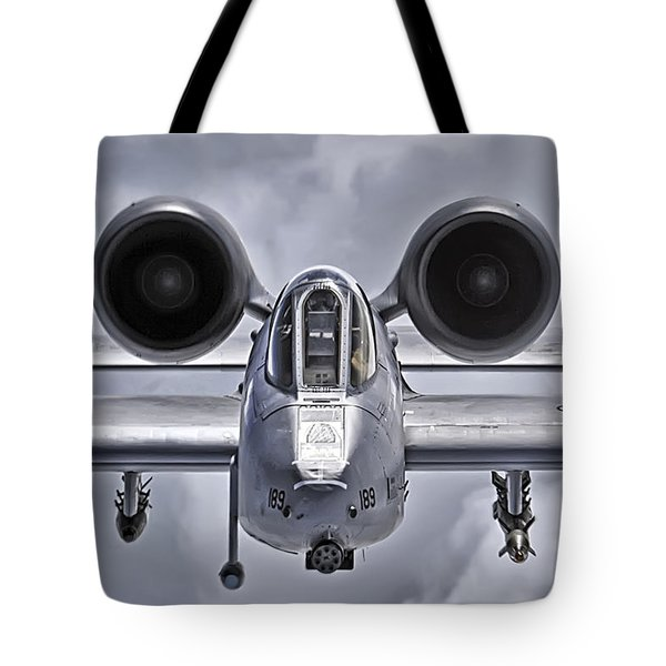 A-10 Thunderbolt II Tote Bag by Adam Romanowicz