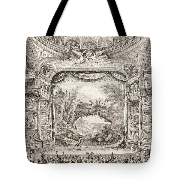 A 1789 Performance In The Theatre Des Varietes Amusantes Tote Bag by French School
