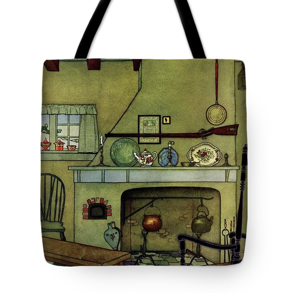 A 1920's Idea Of A Colonial Kitchen Tote Bag