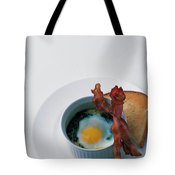 A Baked Egg With Spinach Tote Bag