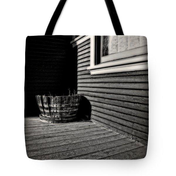 Over A Barrel Tote Bag by Mark Alder