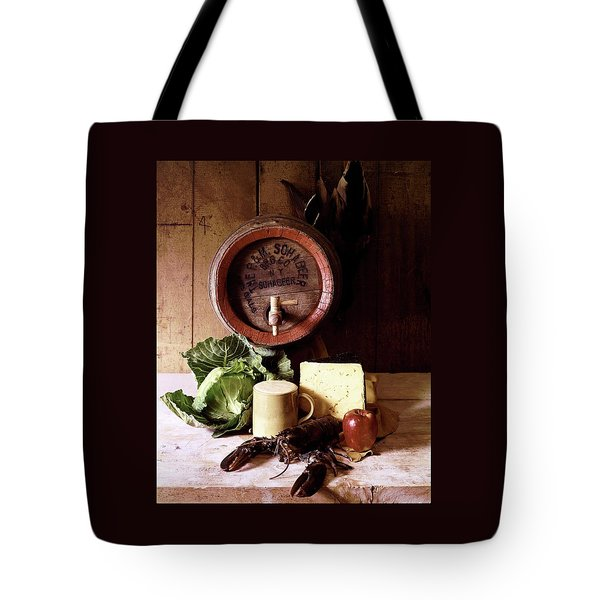 A Barrel Of Beer Tote Bag by N. Courtney Owen