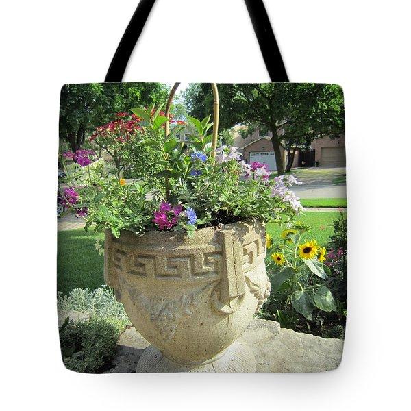 A Basket Summer  Tote Bag by Jieming Wang