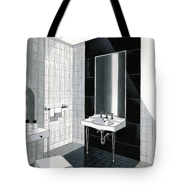 A Bathroom For Kohler By Ely Jaques Kahn Tote Bag