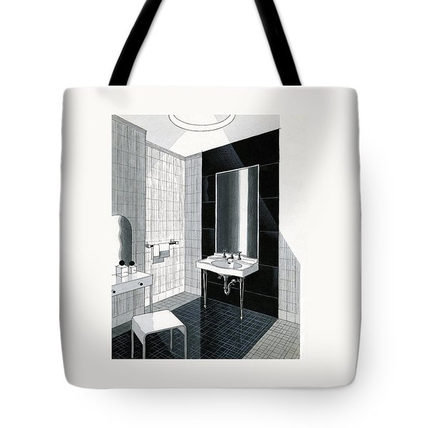 A Bathroom For Kohler By Ely Jaques Kahn Tote Bag