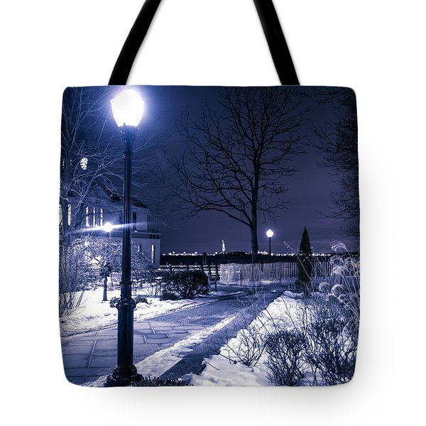 A Battery Park Winter Tote Bag