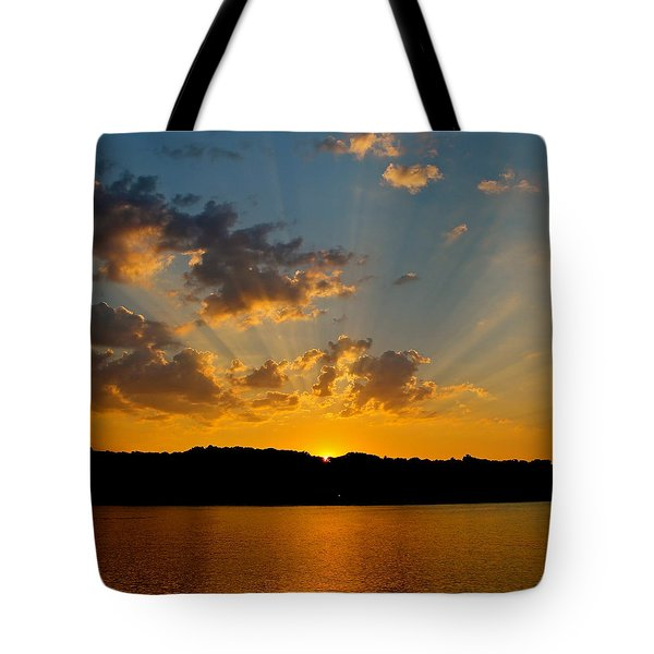 A Bay Sunset Tote Bag by Justin Connor