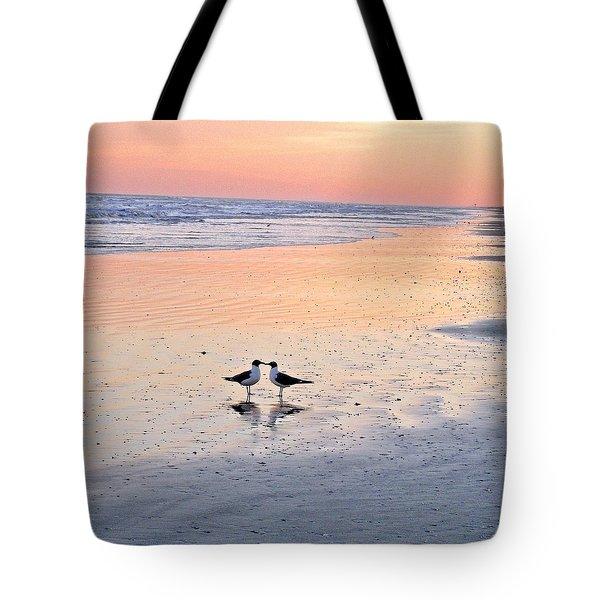 A Beach Romance Tote Bag