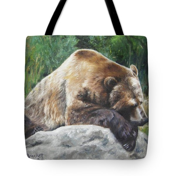 A Bear Of A Prayer Tote Bag by Lori Brackett