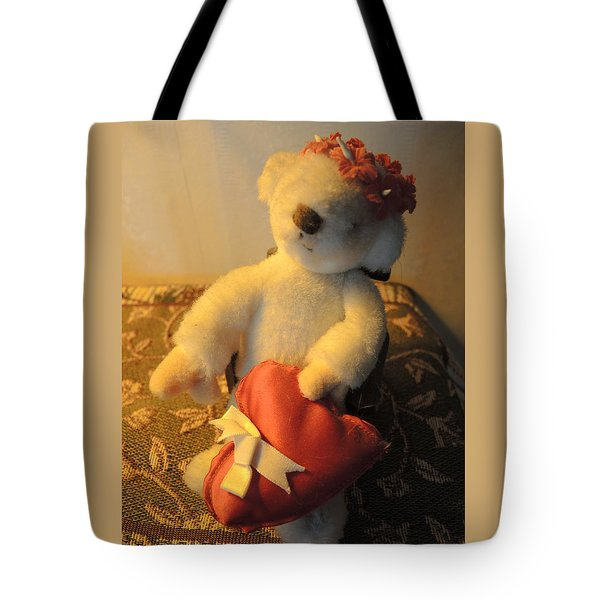 A Bear's Love Tote Bag by Chrissey Dittus