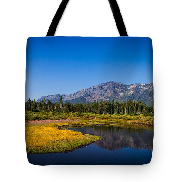 Tote Bag featuring the photograph A Beautiful Day In The  Neighborhood by Mitch Shindelbower