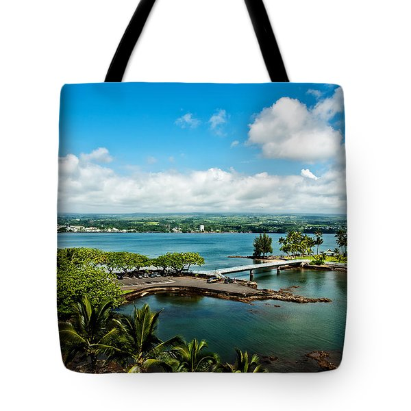 A Beautiful Day Over Hilo Bay Tote Bag by Christopher Holmes