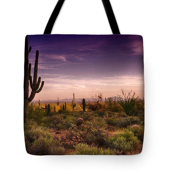 A Beautiful Desert Evening  Tote Bag by Saija  Lehtonen