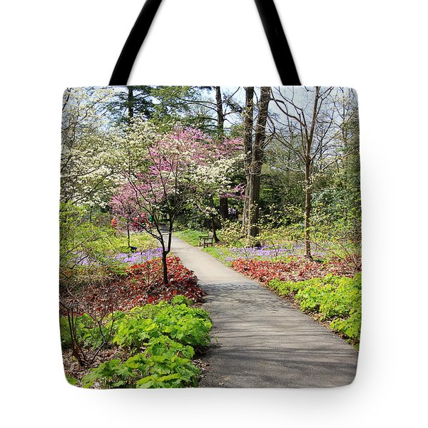 A Beautiful Spring Walk Tote Bag