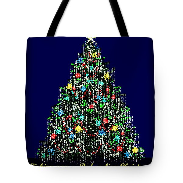 A Bedazzling Christmas Tote Bag