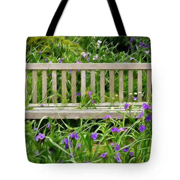 A Bench For The Flowers Tote Bag