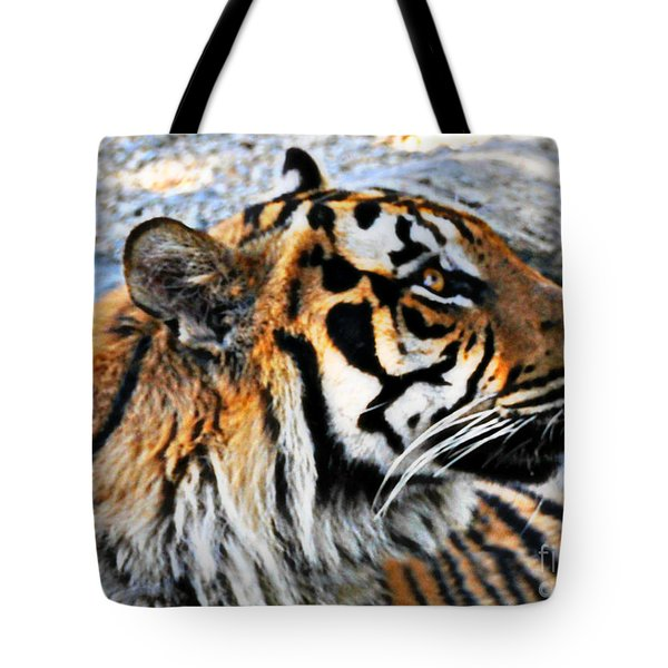 A Bengal Tiger Profile  Tote Bag