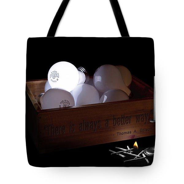 A Better Way Still Life - Thomas Edison Tote Bag by Tom Mc Nemar