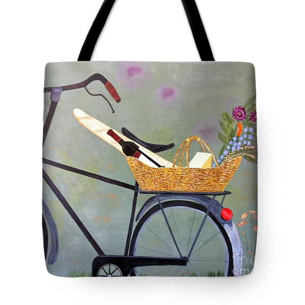 A Bicycle Break Tote Bag