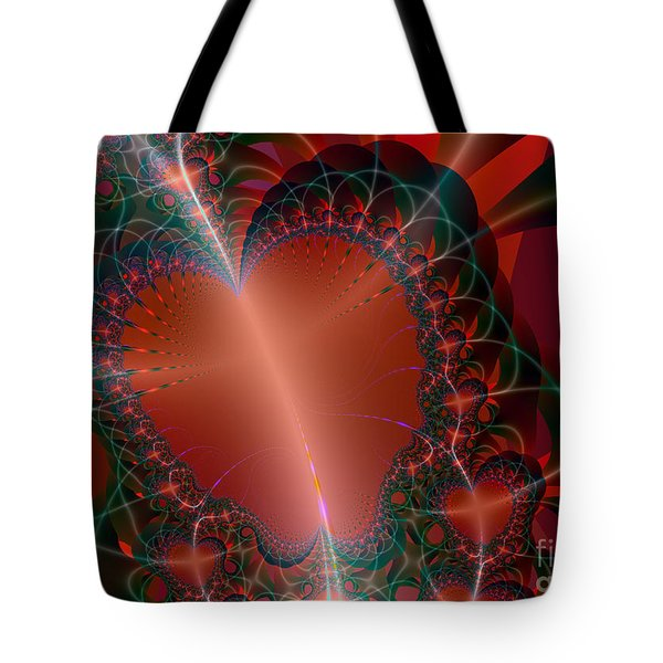 Tote Bag featuring the digital art A Big Heart by Ester  Rogers