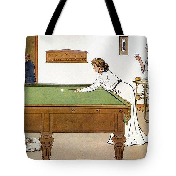 A Billiards Match Tote Bag
