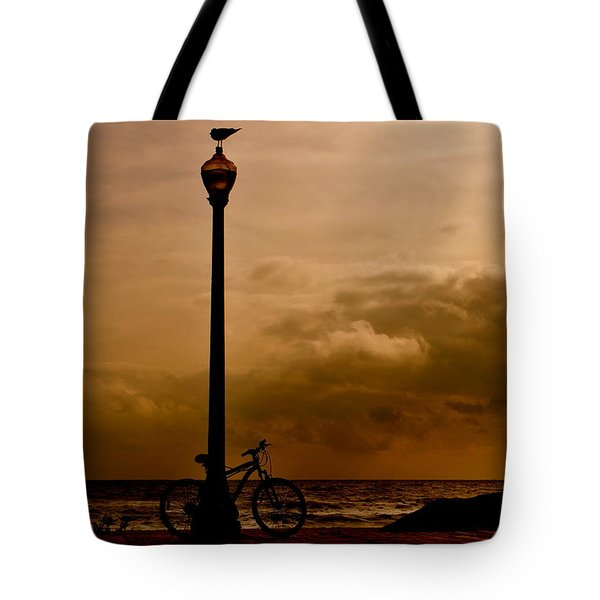 A Bird And A Bike Tote Bag