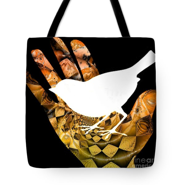 A Bird In The Hand Is Worth Two In The Bush  Tote Bag by Elizabeth McTaggart