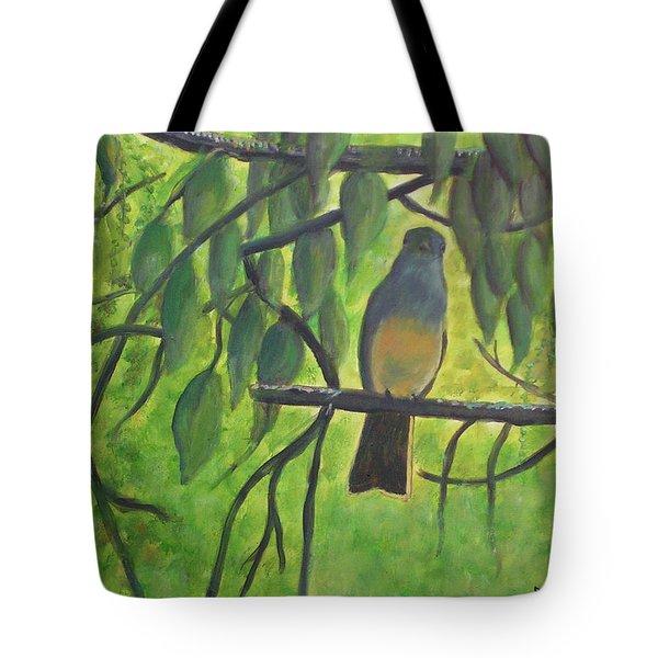 A Bird Looking At Me Tote Bag