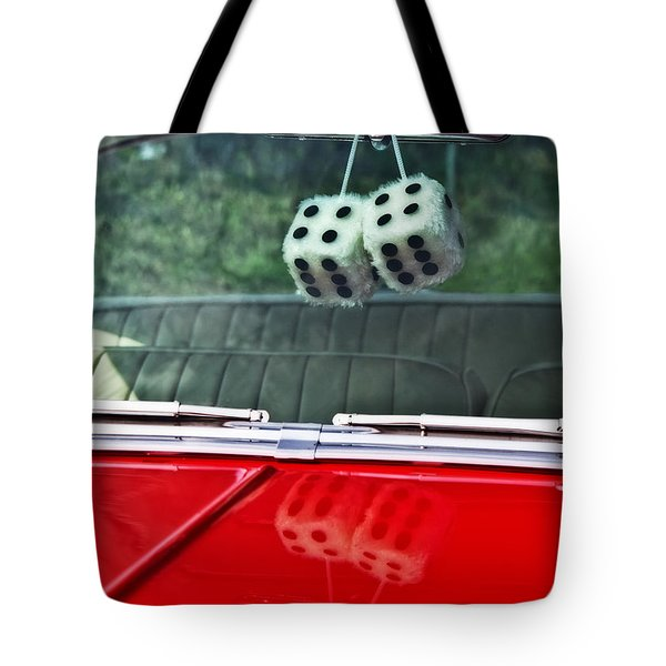 A Bit Dicey Tote Bag by Mark Alder
