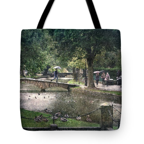 A Bit Of Rain Tote Bag by William Beuther