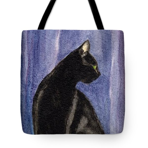 A Black Cat's Sexy Pose Tote Bag