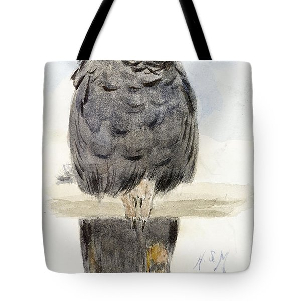 A Black Cockatoo Tote Bag by Henry Stacey Marks