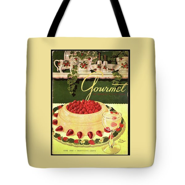 A Blancmange Ring With Strawberries Tote Bag