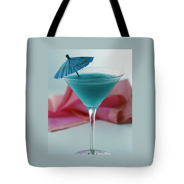 A Blue Hawaiian Cocktail Tote Bag