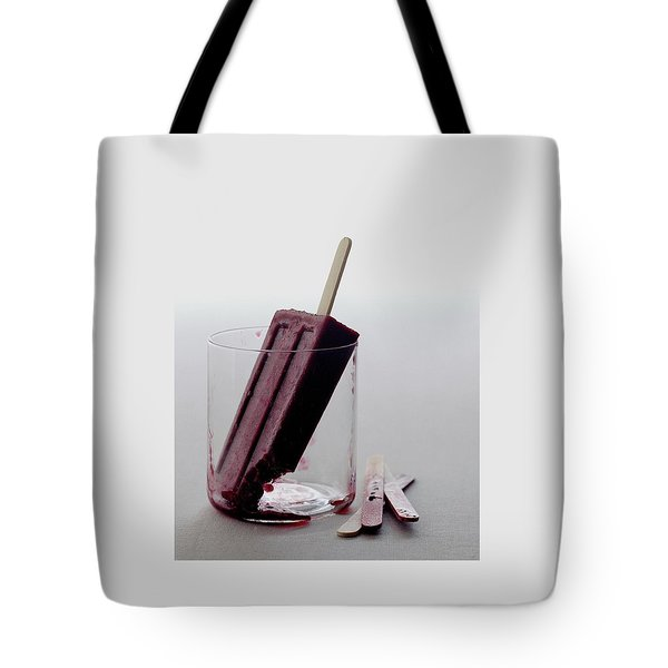 A Blueberry Lime Popsicle Tote Bag