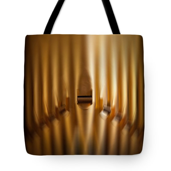 A Blur Of Pipes Tote Bag