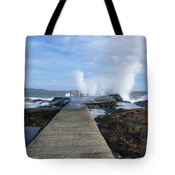 A Blustery Day At High Rock Tote Bag by Martina Fagan