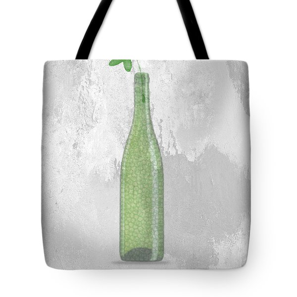 A Bottle With Flower Tote Bag