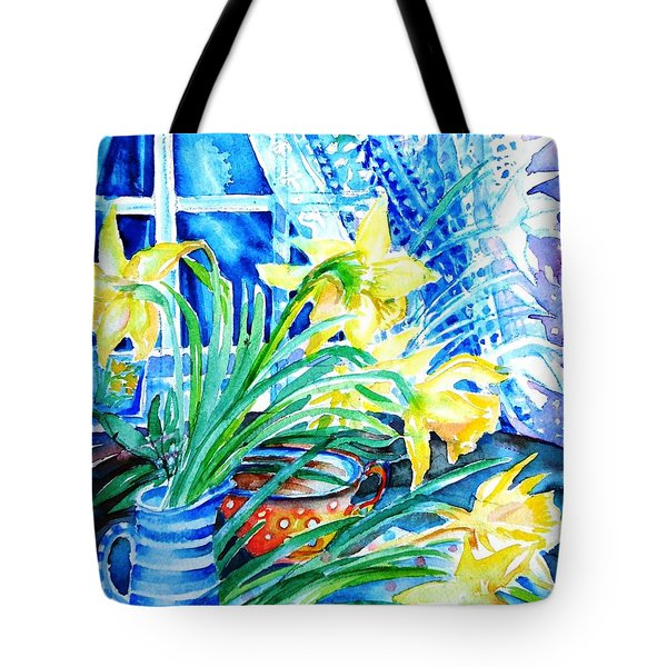 A Bouquet Of April Daffodils  Tote Bag by Trudi Doyle