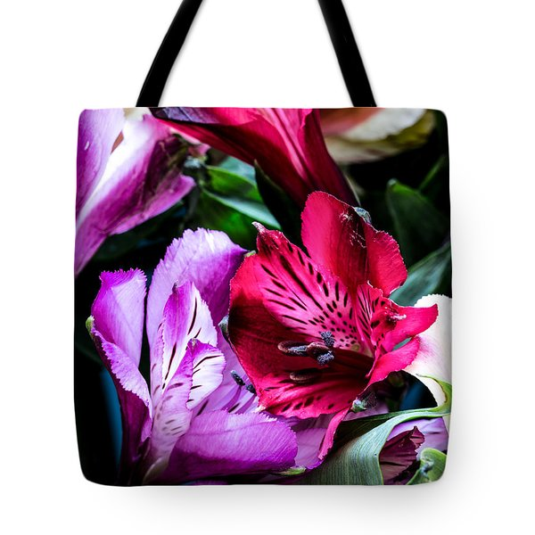 A Bouquet Of Peruvian Lilies Tote Bag